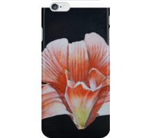 Cambodian orchids on a black background iPhone Case/Skin