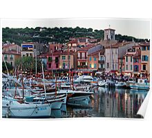 Cassis, French Riviera, in the Summer at Dusk Poster