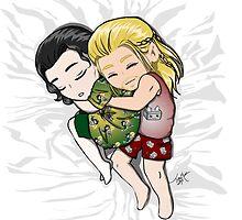 Sleepy Thor and Loki by TreeMuse