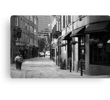 A Walk in Boston Canvas Print