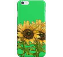 Sunflowers Green iPhone Case/Skin