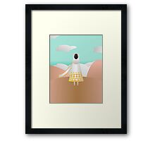 White Traveler Framed Print