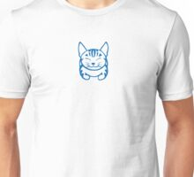 Happy Cat - Tabby  (blue) -Small pic Unisex T-Shirt