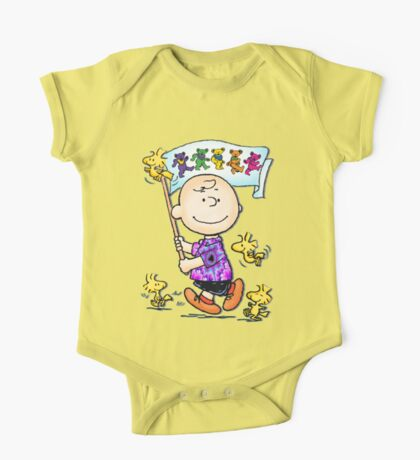 Wave that flag Charlie Brown One Piece - Short Sleeve