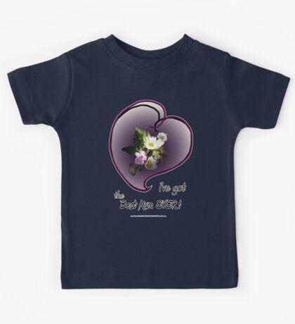 wildflower, Best Mum EVER! heart Kids Tee