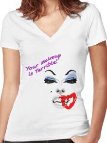 drag queen alaska Women's Fitted V-Neck T-Shirt