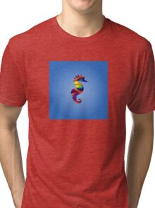 Psychedelic Seahorse Tri-blend T-Shirt