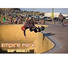 Nose-Grab Backside Air - Empire Park Skate Park  Photographic Print