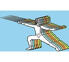 Fencer In Color Motion Photographic Print