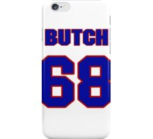 National football player Butch Lewis jersey 68 iPhone Case/Skin