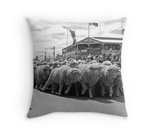 Running of the Sheep Throw Pillow