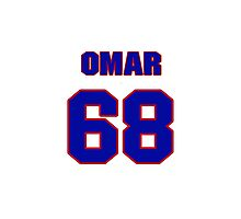 National football player Omar Smith jersey 68 Photographic Print