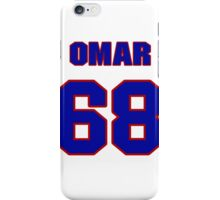 National football player Omar Smith jersey 68 iPhone Case/Skin