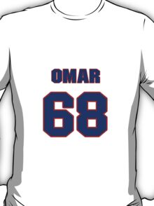 National football player Omar Smith jersey 68 T-Shirt