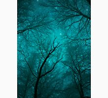 Simply Stare Upward (Dark Winter Sky / Winter Forest) Unisex T-Shirt