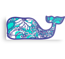 Lilly Pulitzer Whale Montauk Summer Metal Print