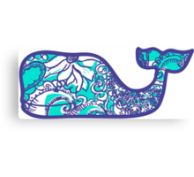 Lilly Pulitzer Whale Montauk Summer Canvas Print
