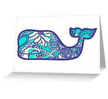 Lilly Pulitzer Whale Montauk Summer Greeting Card