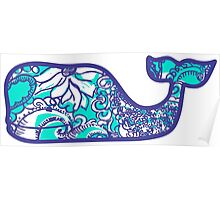 Lilly Pulitzer Whale Montauk Summer Poster
