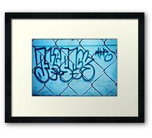Street tag Framed Print