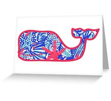Lilly Pulitzer Whale She Sells Sea Shells Greeting Card