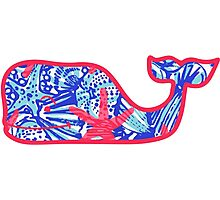 Lilly Pulitzer Whale She Sells Sea Shells Photographic Print