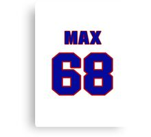 National football player Max Lane jersey 68 Canvas Print