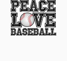 Peace, Love, Baseball Unisex T-Shirt