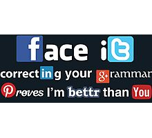 Social Media Snob Photographic Print