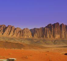Camp site, Jordan by Maureen Clark
