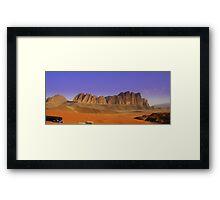 Camp site, Jordan Framed Print