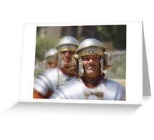 Gladiators in Jordan Greeting Card