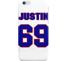 National football player Justin Trattou jersey 69 iPhone Case/Skin