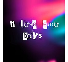 i love emo boys Photographic Print