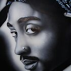 Tupac b&amp;w by billy v_