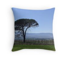 Solitude in a Vineyard Throw Pillow