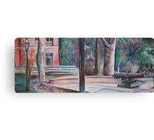 pratt campus in pastels Canvas Print
