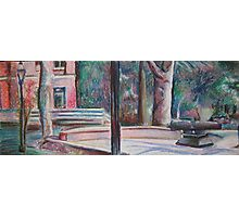 pratt campus in pastels Photographic Print