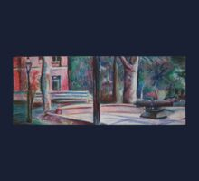 pratt campus in pastels One Piece - Long Sleeve