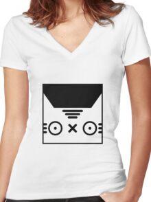 Kitty Cat Women's Fitted V-Neck T-Shirt
