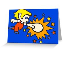 Amazing Alex Kidd punch! Greeting Card