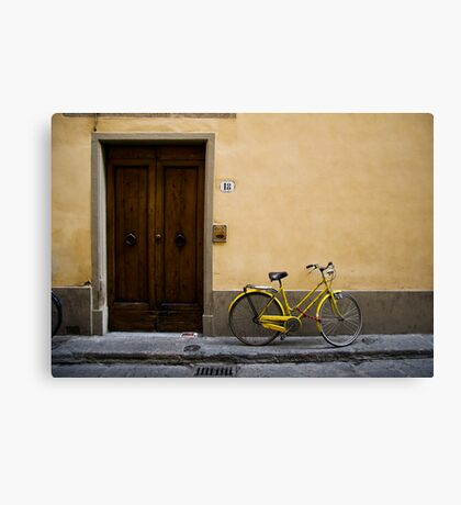 Bicycle yellow Canvas Print