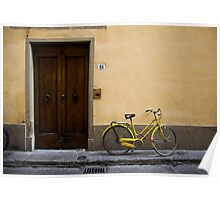 Bicycle yellow Poster