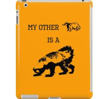 My Other Badger Is A Honey Badger iPad Case/Skin