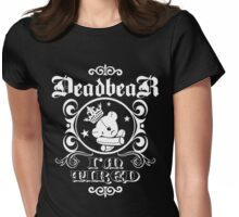 DeadbeaR T-Shirt - 'I'm tired/white' Womens Fitted T-Shirt