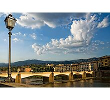 Italian lamppost Photographic Print