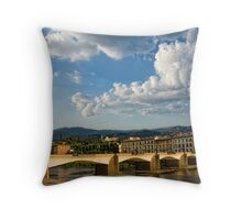 Italian lamppost Throw Pillow