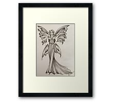 Fantasy fairy, fashion illustration  Framed Print