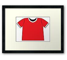 A RED SHIRT t-shirt tee Framed Print