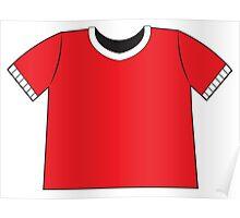 A RED SHIRT t-shirt tee Poster